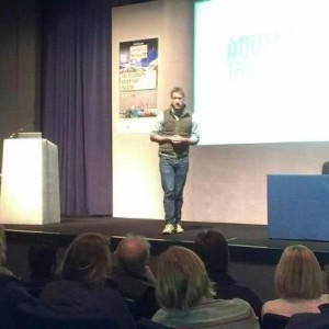 Ben Fogle speaking at the Adventure Travel Show