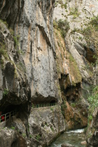 Tunnels blasted out of the rock