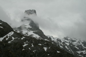 Our first sight of the peak