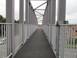 The footbridge over the A1
