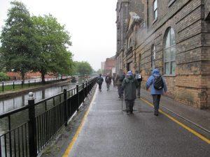 Heading through the rain towards Washingborough
