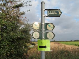 Typical signs along the route