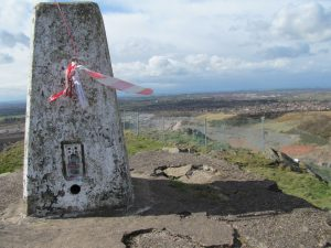 The summit of Bardon Hill- complete with self clip
