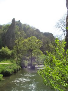 The River Dove and rock spires