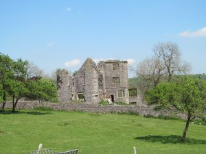The ruins of Throwley Old Hall