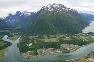 The view from Rampestreken viewpoint
